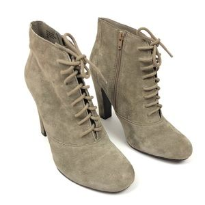 Seychelles Suede Lace Up Ankle Boots Size 8.5